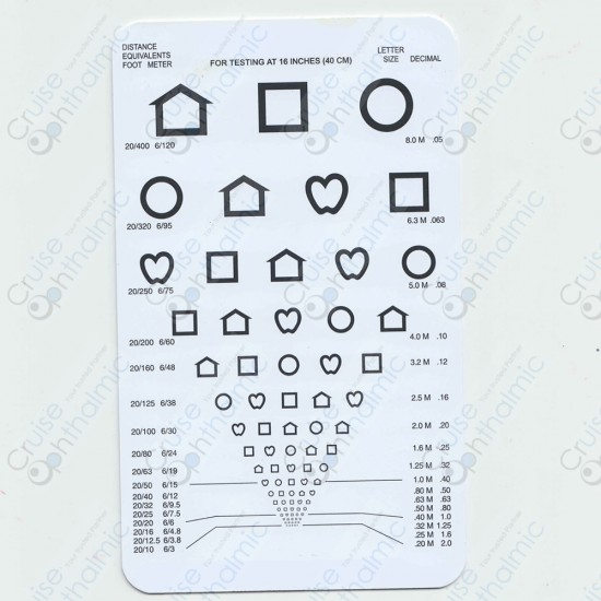 Pocket Near Vision Card A22