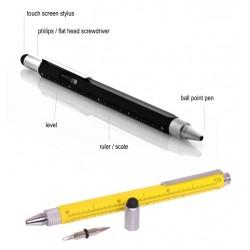 Optican Multi-Usage Stylus Tools Pen Hexanglular Ball Pen Leveler included