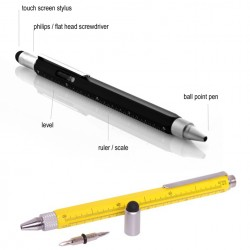 Optican Multi-Usage Stylus Tools Pen Hexanglular Ball Pen Leveler included